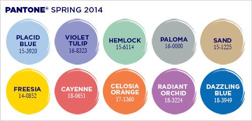 panton colors spring 2013